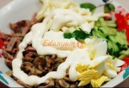 Салат из языка рецепт с маринованными огурцами рецепт