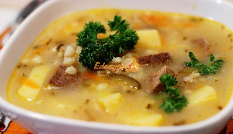суп рассольник классический рецепт с фото с перловкой