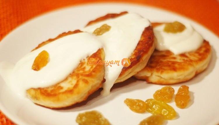 рецепты сырников из творога с изюмом с фото