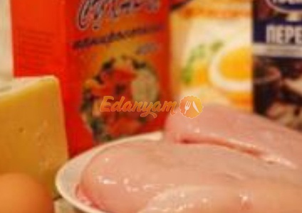 Куриная грудка в сухарях, фаршированная сыром – кулинарный рецепт